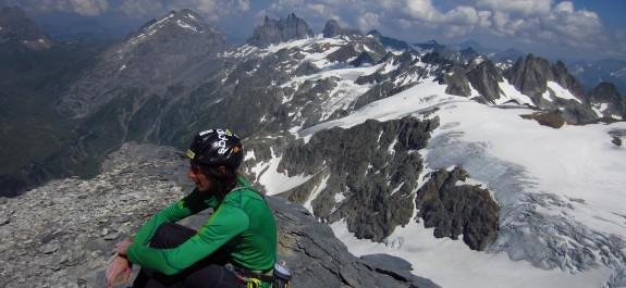 Matteo Della Bordella sulla cima del Titlis