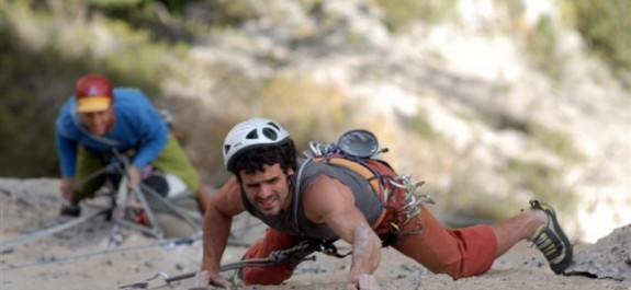 Fabio Palma in arrampicata