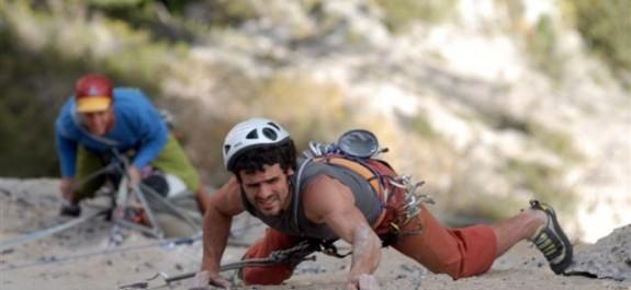 Fabio Palma in arrampicata