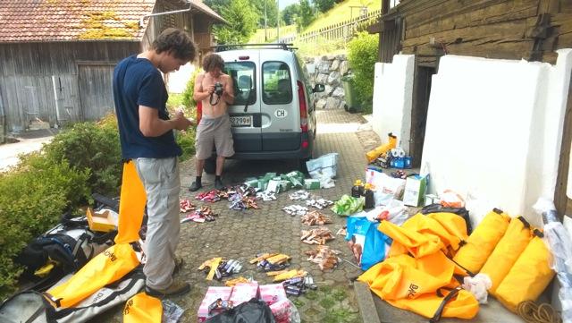 Preparazione dei materiali per la spedizione