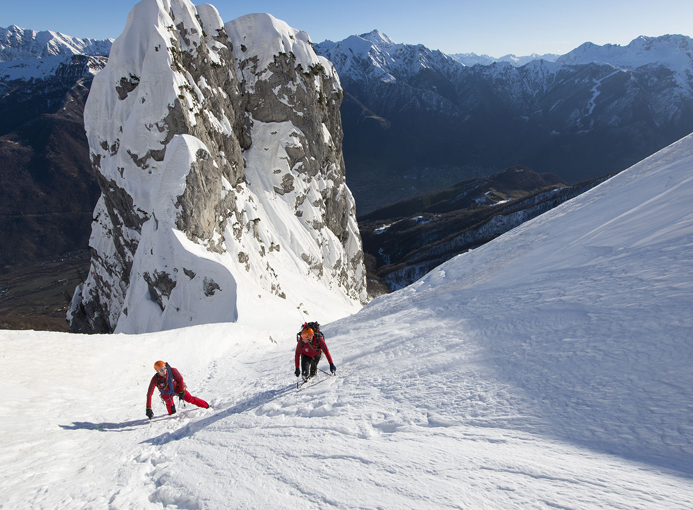 Alpinisti sulla parete Fasana