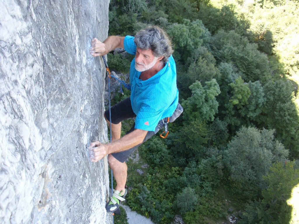 mario giacherio in arrampicata