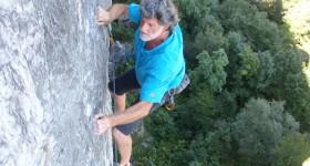 mario giacherio in arrampicata