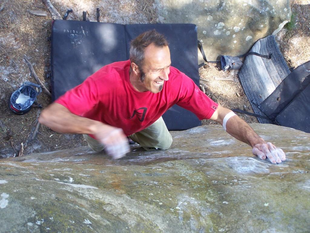 Daniele Neno Tavola in arrampicata