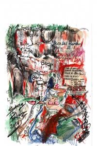 """La topo de """"La Divina Commedia"""", realizzata nel inconfondibile stile di Simone Pedeferri"""