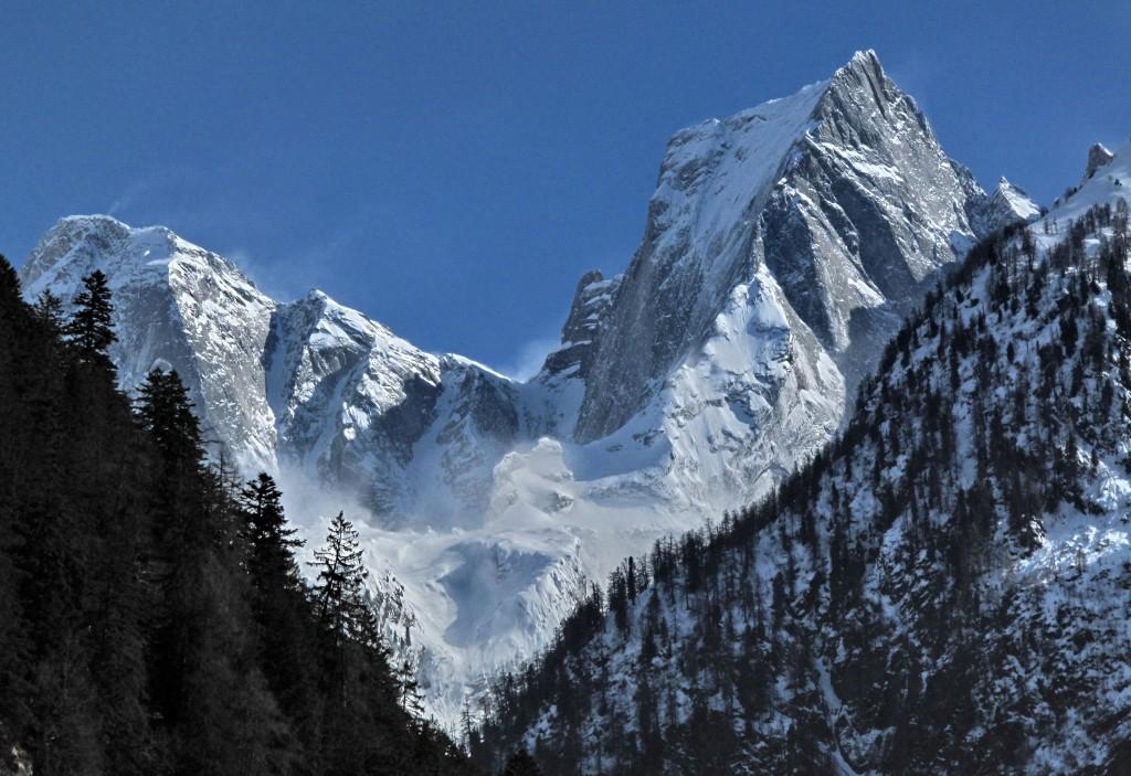 Lo Spigolo del Badile in inverno - Ph Mario Sertori