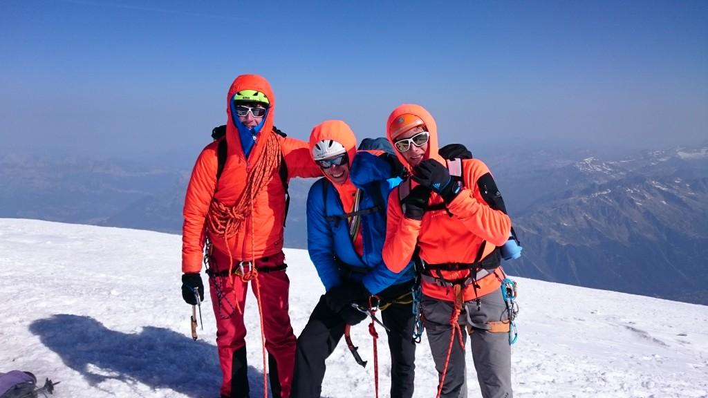 Il team alpinistico della spedizione (da sinistra): Matteo Della Bordella, Matteo De Zaiacomo e Luca Schiera
