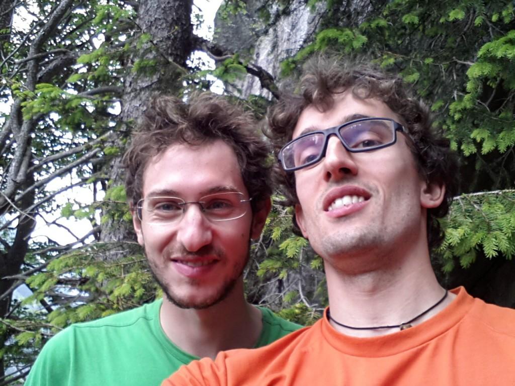 Con Marco alla base di Lavorare con Lentezza in Val di Mello