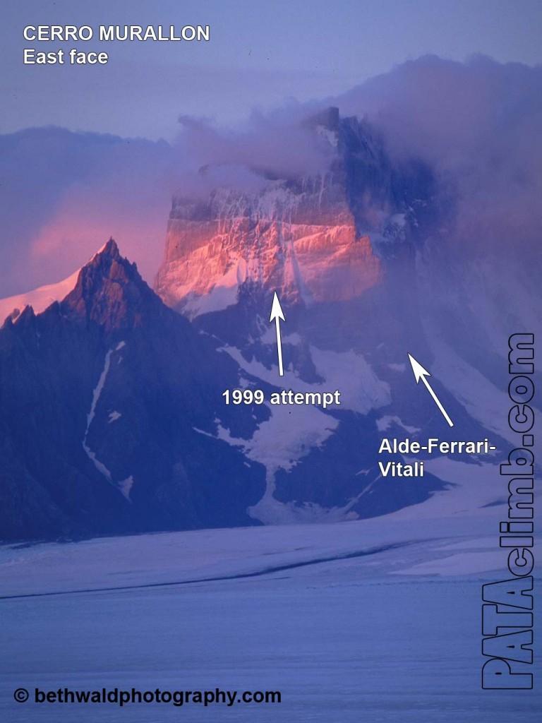 La parete Est del Cerro Murallon (ph courtesy Pataclimb.com)