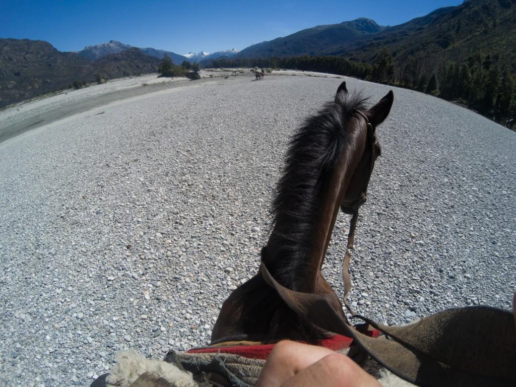 le otto ore di cavallo che portavano dall'estancia alla prima cabana