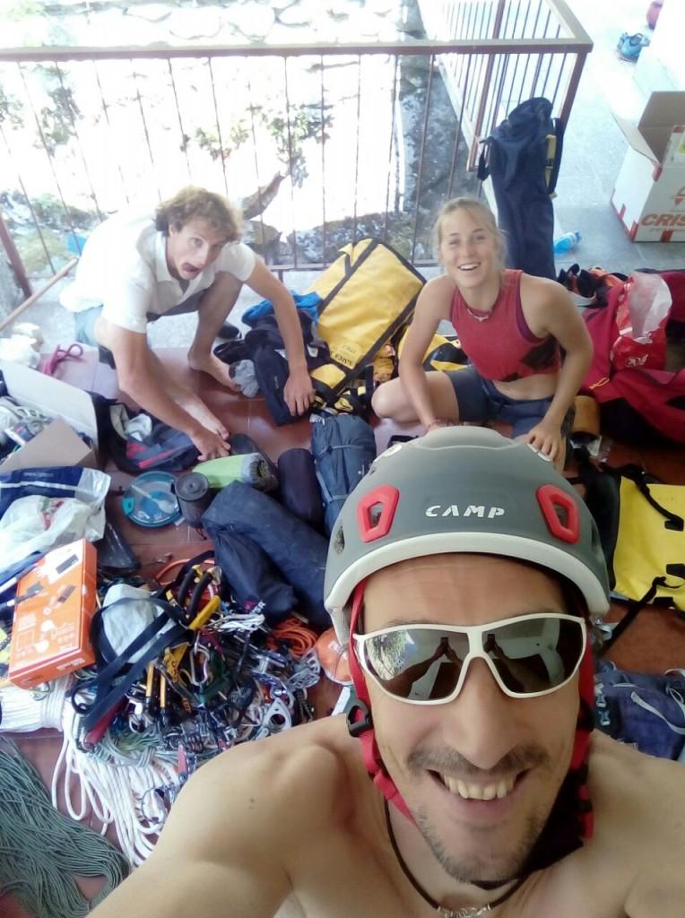 Simone, Luchino e Federica... quasi pronti per la partenza!