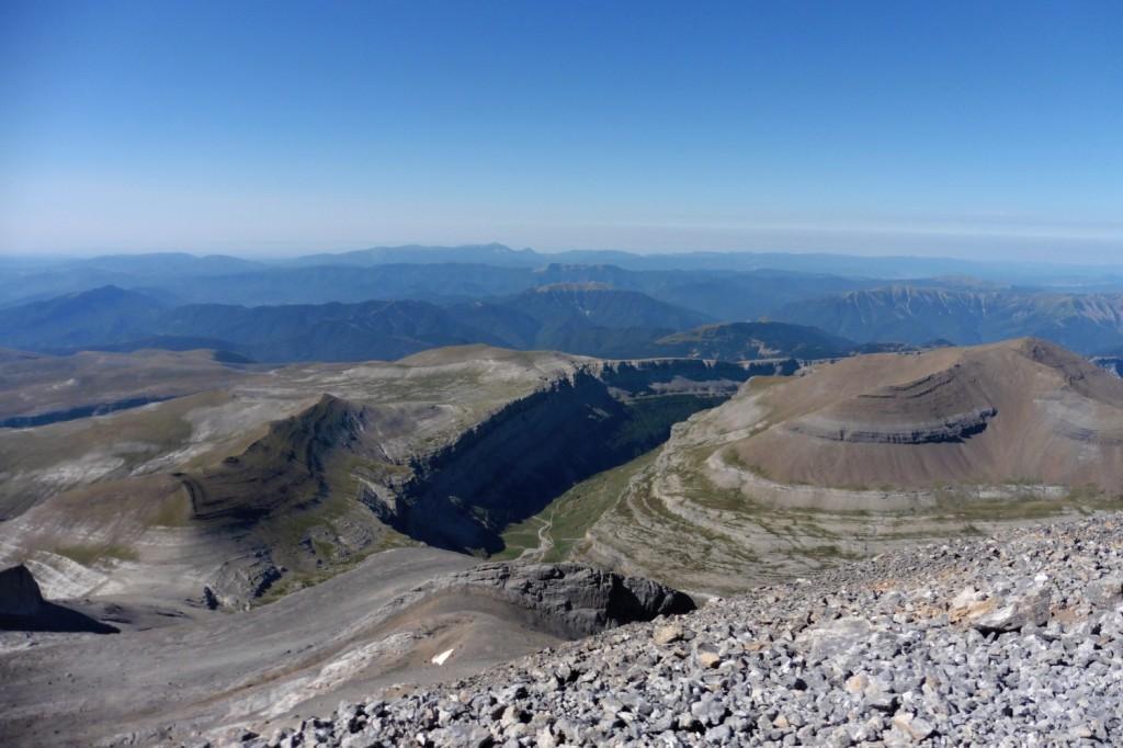 Panorama dalla cima del Monte Perdido