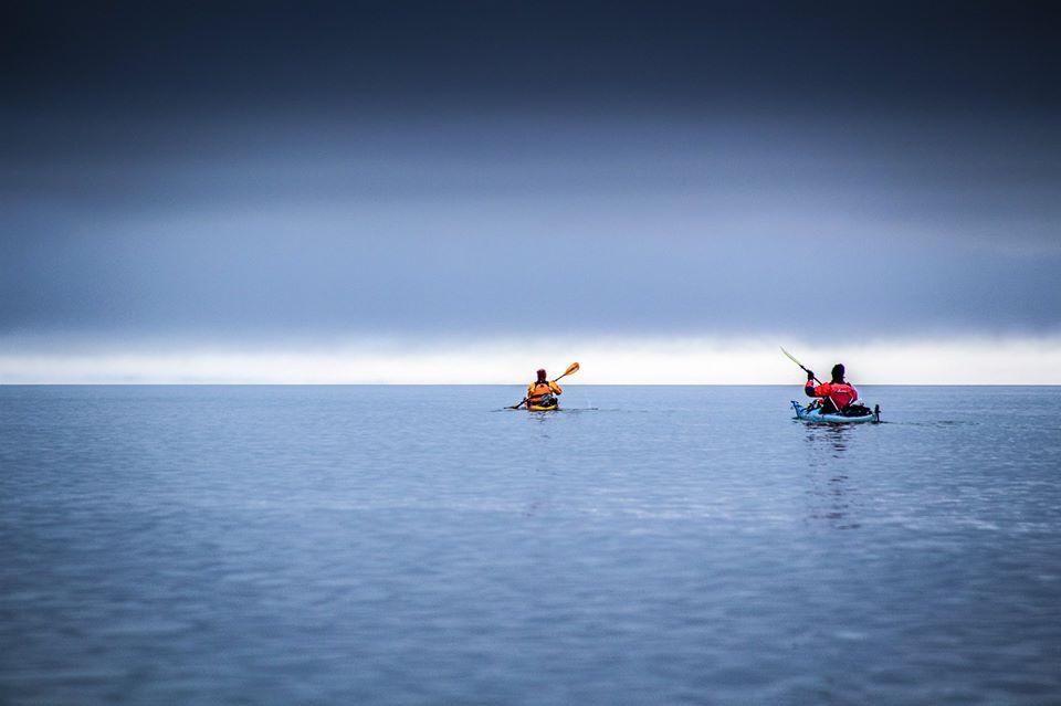 In kayak verso il Cerro Riso Patron