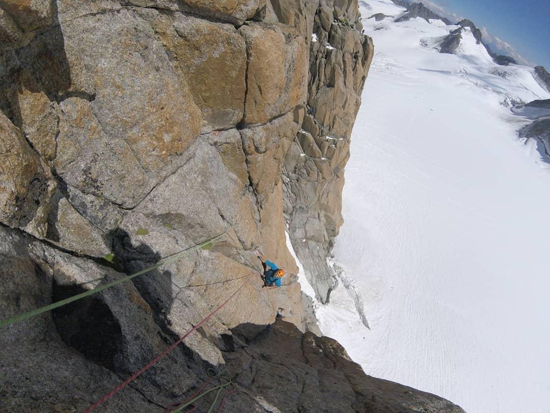 Sullo splendido granito del Monte Bianco