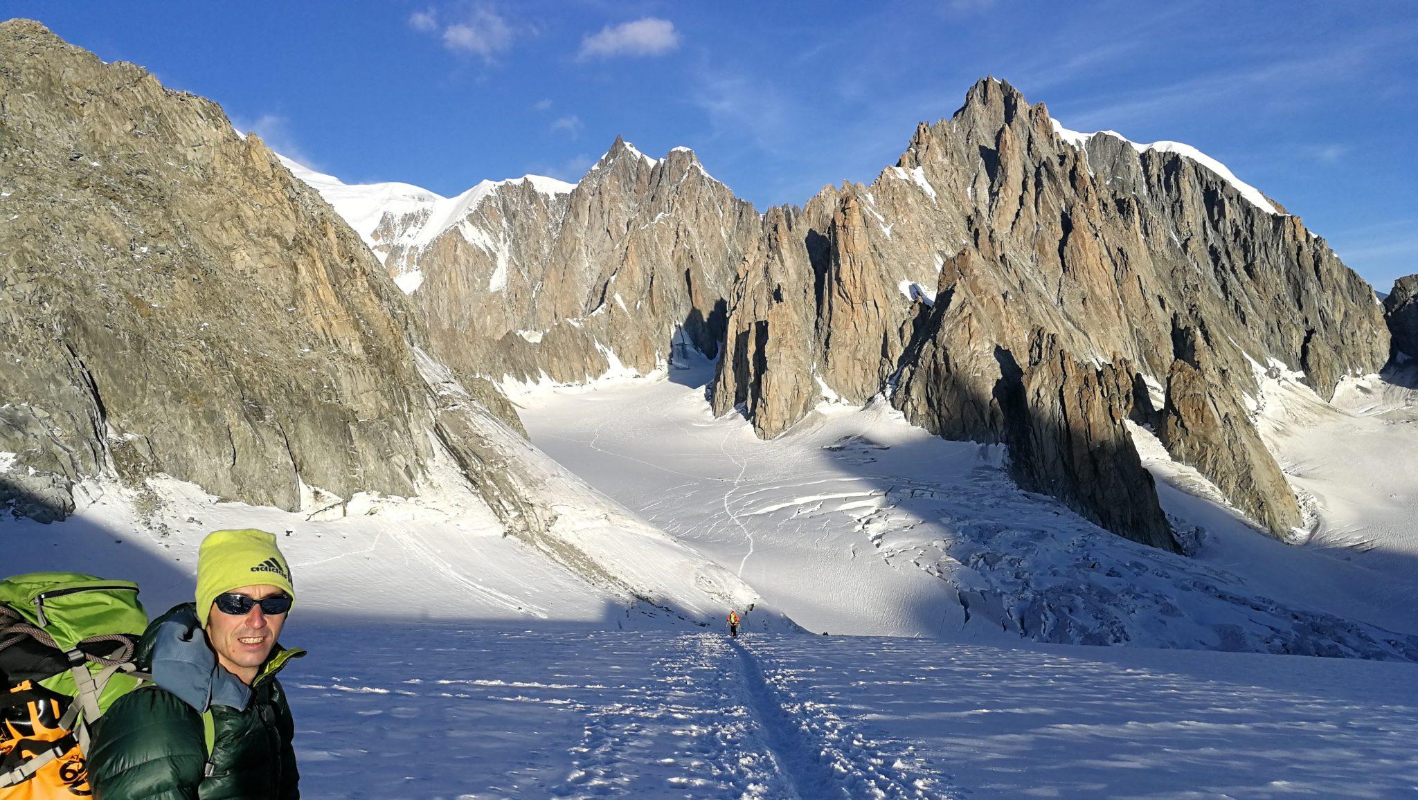 Il paradiso della scalata in quota: il circo dei satelliti del Tacul