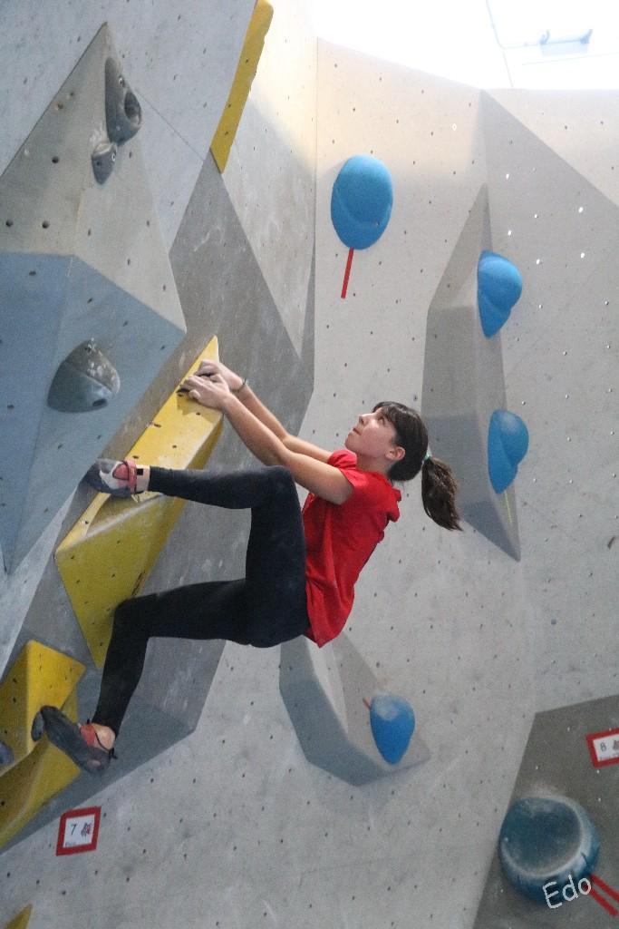Giulia Passini flash sul Boulder 7, uno dei più difficili
