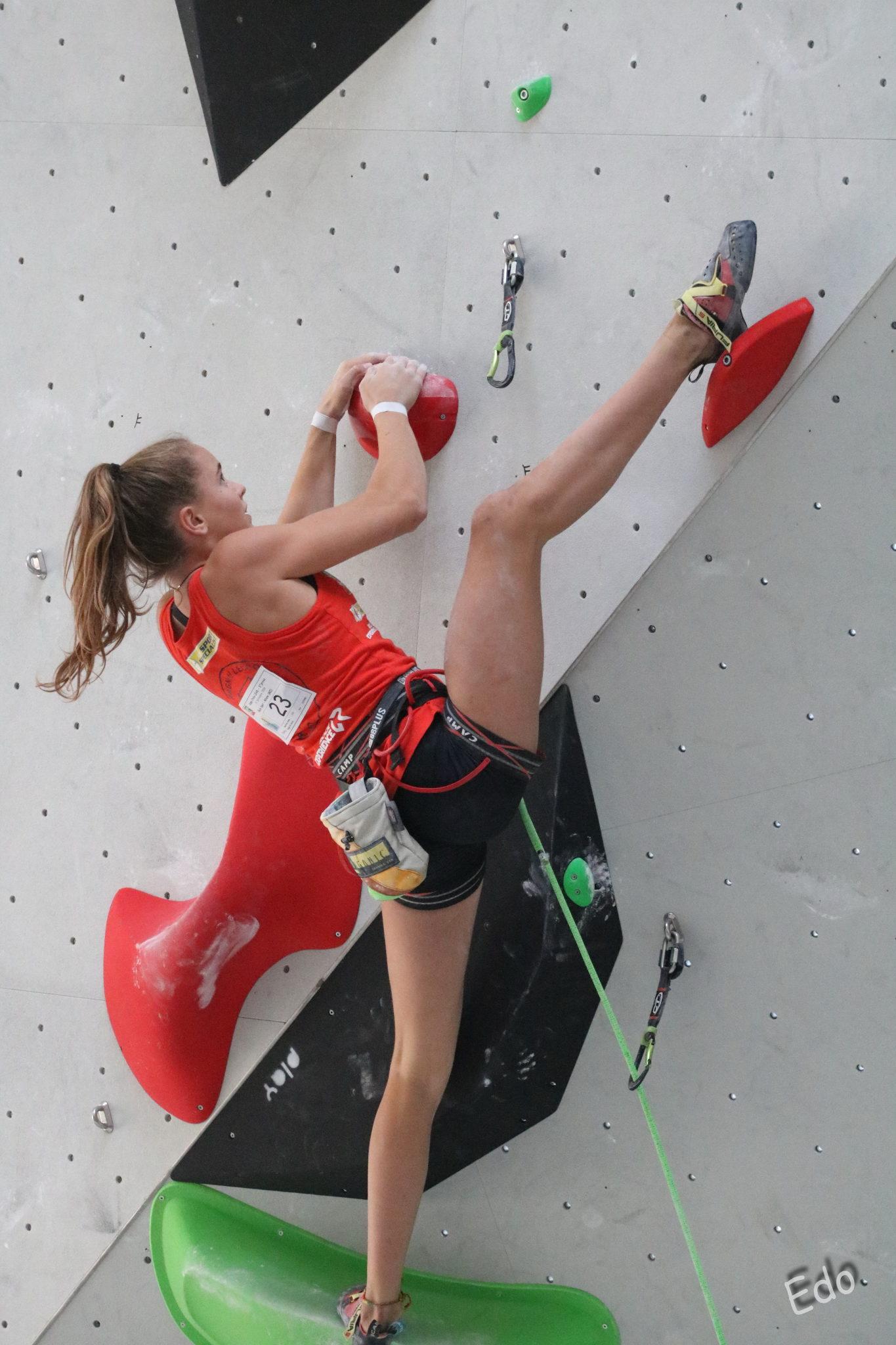 Beatrice Colli durante le qualifiche della Gara Lead