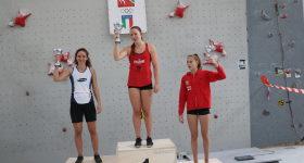 Il podio della gara di Coppa Italia Speed vede la nostra atleta Beatrice Colli al terzo posto