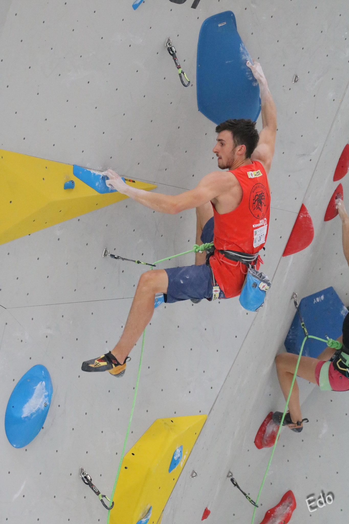 Stefano Carnati, secondo nela finale Lead