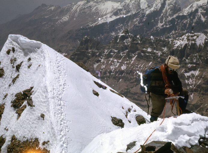 Romano Perego durante la spedizione in Afghanistan del 1965