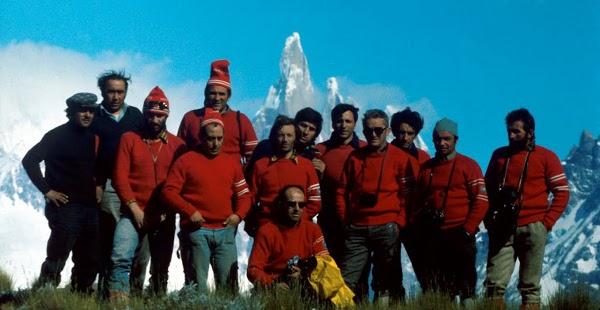 il gruppo della spedizione al torre nel 74