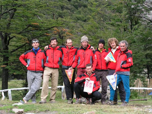 La squadra dei Ragni nella spedizione al Piergiorgio del 2003